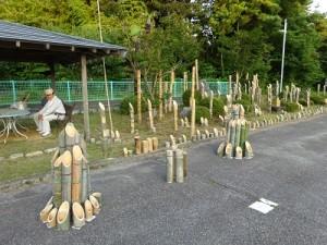関川村上土沢竹灯篭の会による準備